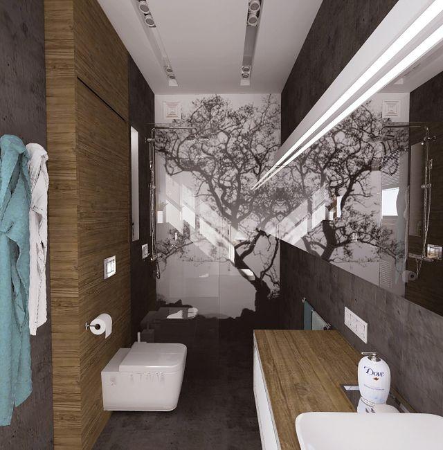 Nowoczesna łazienka w betonie