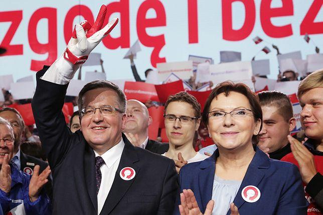 Prezydent Bronisław Komorowski i premier Ewa Kopacz