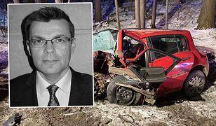 Pokazano zdjęcia z miejsca wypadku dziennikarza TVP.