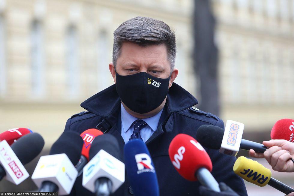 Koronawirus w Polsce. Na zdjęciu szef KPRM Michał Dworczyk