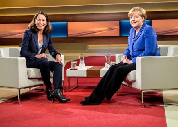 Angela Merkel i dziennikarka Anne Will