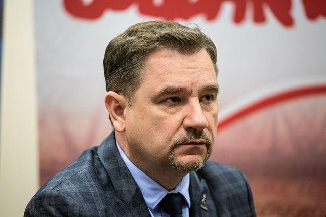 """Piotr Duda, przewodniczący """"Solidarności""""."""