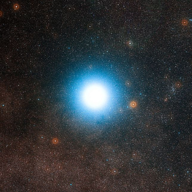 Gwiazda z układu Alfa Centauri.