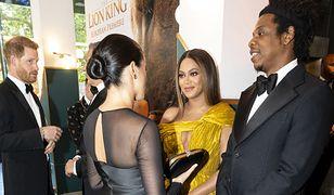 """Księżna Meghan i Beyonce. Historyczne spotkanie na premierze """"Króla Lwa"""""""