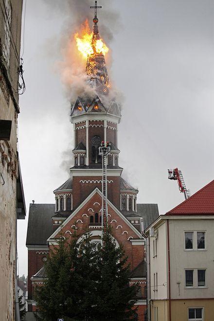 Groźny pożar kościoła. Wierni zdążyli wyjść - zdjęcia