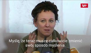 """Olga Tokarczuk o """"problemach z demokracją"""" w Polsce. """"Mamy coś do powiedzenia światu"""""""