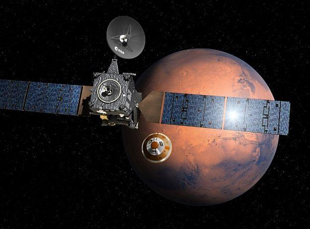 Lądownik misji ExoMars osiadł na powierzchni Marsa