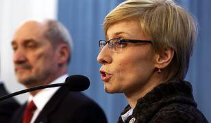 Szef MON Antoni Macierewicz i europosłanka PiS Beata Gosiewska