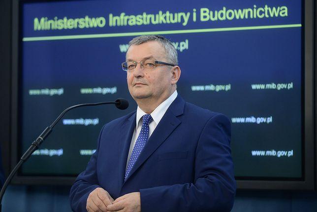 Andrzej Adamczyk, minister infrastruktury: - Na wypracowane przez nas propozycje branża czekała od dłuższego czasu