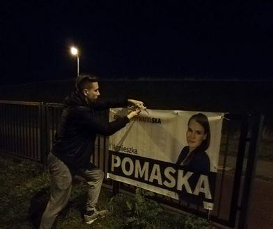 Wyniki wyborów 2019. Agnieszka Pomaska publikuje zdjęcie sztabowców zdejmujących jej banery