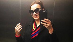 LOOK OF THE DAY: Anna Starmach w pasiastej sukience