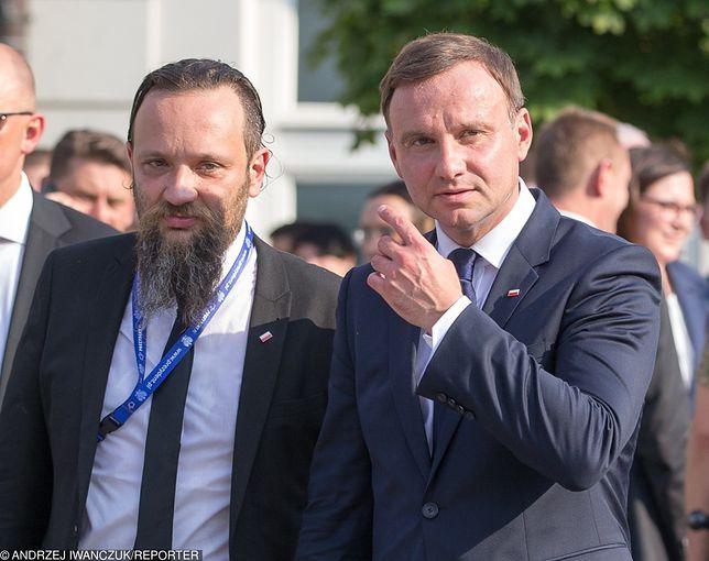 Andrzej Duda ze swoim współpracownikiem Marcinem Kędryną