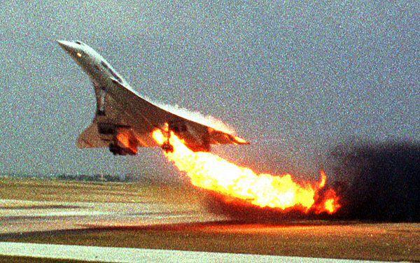 Samolot Concorde tuż przed katastrofą