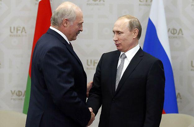 Prezydent Białorusi Aleksandr Łukaszenka i prezydent Rosji Władimir Putin