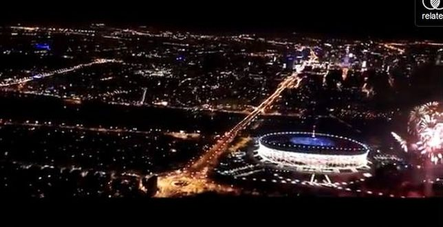 Nocne fajerwerki (wideo)