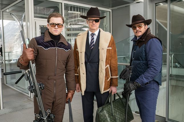"Taron Egerton, Colin Firth, Pedro Pascal w filmie ""Kingsman: Złoty krąg"""