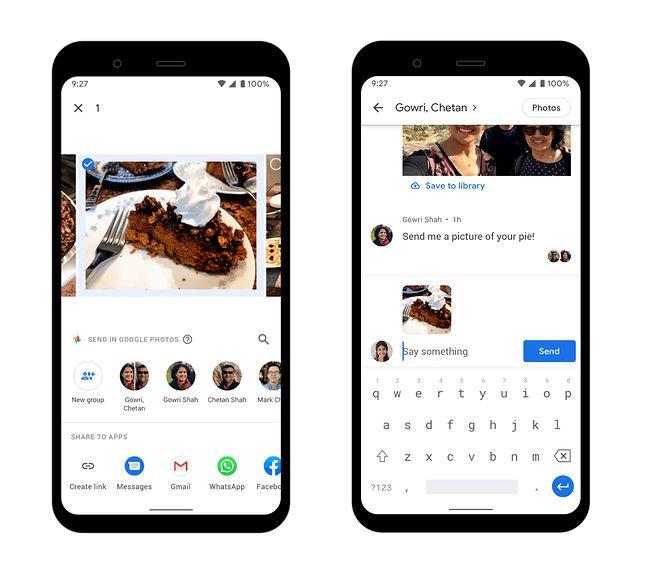 Widok rozmowy w Zdjęciach Google