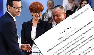 Premier Mateusz Morawiecki i minister Elżbieta Rafalska podczas prezentacji mapy drogowej dla nowych programów.