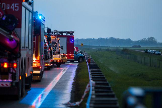W karambolu zderzyło się pięć samochodów i TIR