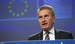Bruksela. Komisarz UE ds. budżetu Guenther Oettinger (zdj. arch.)