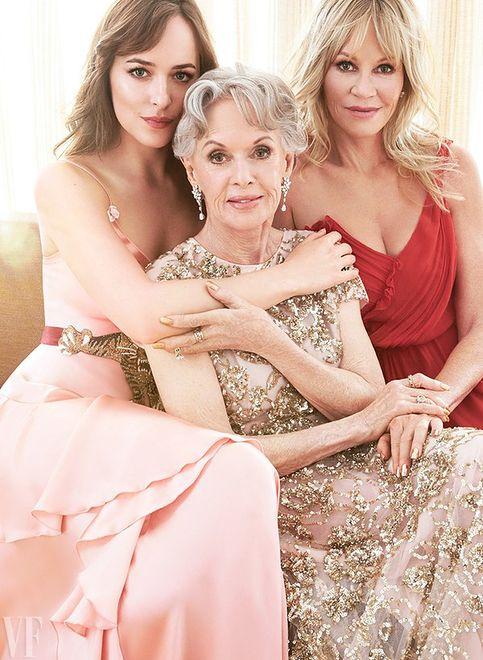 """Tippi Hedren, Melanie Griffith i Dakota Johnson w sesji dla """"Vanity Fair"""""""