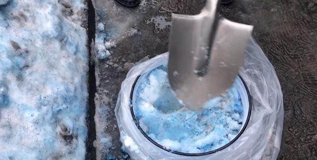 Niebieski śnieg w Rosji