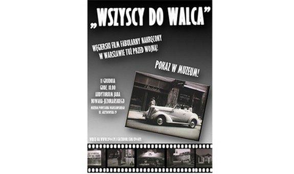 Ostatni przedwojenny film nakręcony w Warszawie