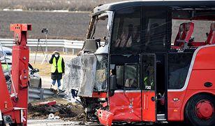 Wypadek autobusu na A4. Część podróżnych wróciła na Ukrainę