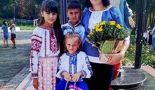 Żona tragicznie zmarłego Wasyla z dziećmi