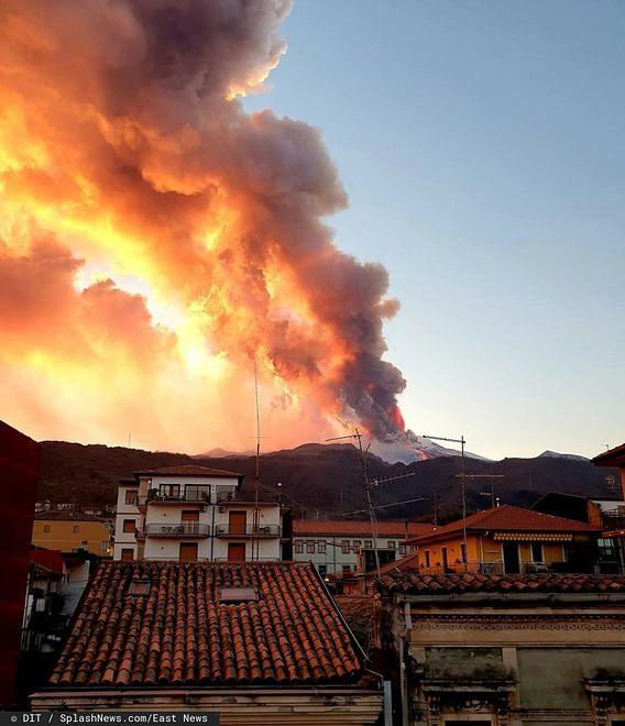 Spektakularna i gwałtowna erupcja Etny