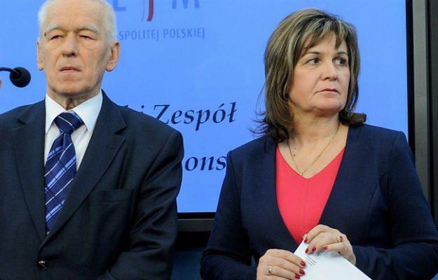 Małgorzata Zwiercan i Kornel Morawiecki