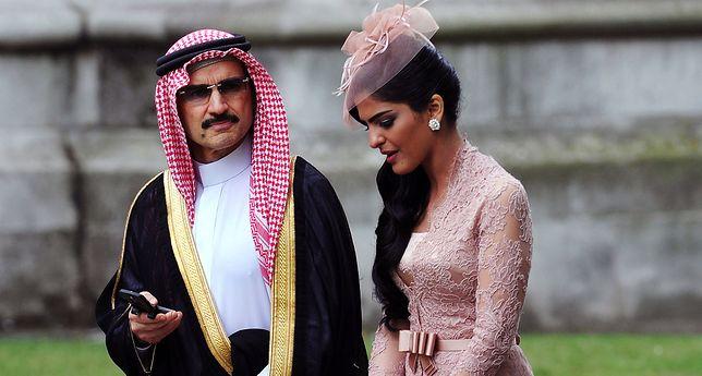 Alwaleed bin Talal z żoną