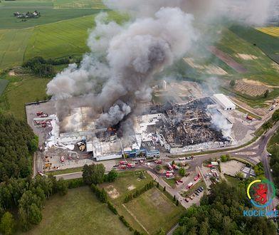 Pożar zakładu Iglotex w Skórczu