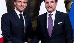 Spotkanie Francja - Włochy. Emmanuel Macron chce karać kraje Unii Europejskiej ws. imigrantów