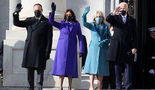 Zaprzysiężenie Joe Bidena na prezydenta USA. Wszyscy patrzą na jego żonę