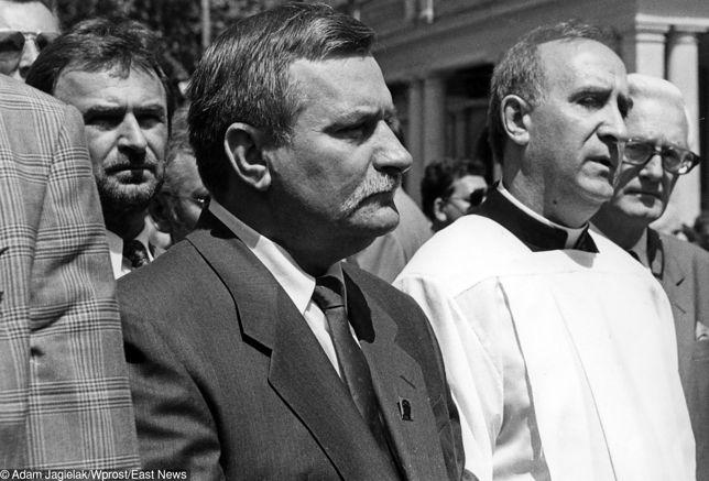 Lech Wałęsa wypowiedział się na temat swojego kapelana Franciszka Cybuli