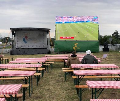 Tak wyglądała strefa kibica na Gocławiu podczas meczu Brazylia - Meksyk.