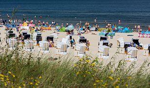 Pogoda plaża bałtyk wakacje świnoujście wybrzeże polskie morze, Polska