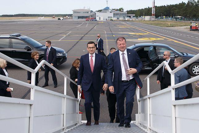"""Nietypowe spotkanie Morawieckiego z premierem Litwy. """"Przywrócimy nasze stosunki na dawny poziom"""""""