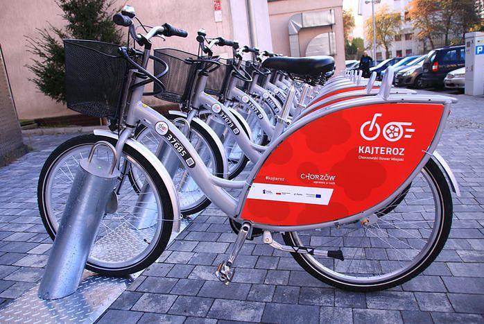 Śląskie. Na mieszkańców Chorzowa będzie czekało 460 rowerów z charakterystycznymi czerwonymi oznaczeniami.