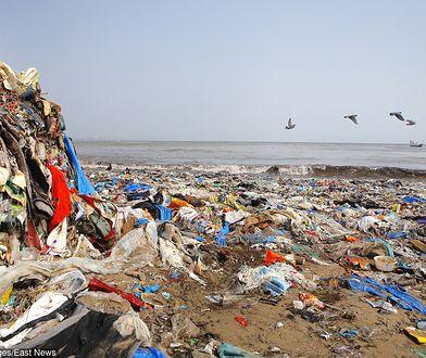 Tony śmieci na plażach w Bombaju
