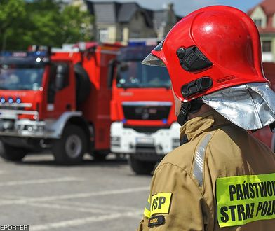 Straż pożarna uratowała 3 osoby. Były nieprzytomne.