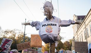Kraków, Strajk Kobiet. Jeden z protestów przeciw zaostrzeniu prawa aborcyjnego i rządom PiS.