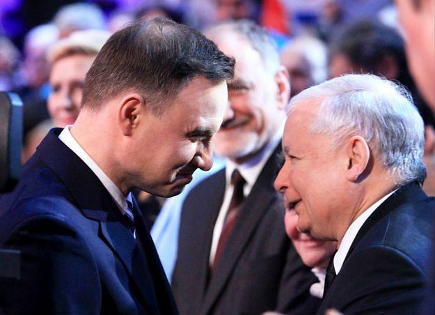 Nocne spotkanie Jarosława Kaczyńskiego z Andrzejem Dudą