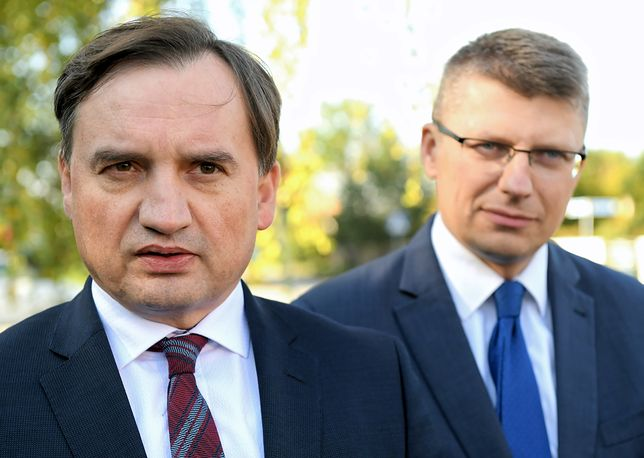 Minister sprawiedliwości Zbigniew Ziobro oraz wiceminister sprawiedliwości Marcin Warchoł