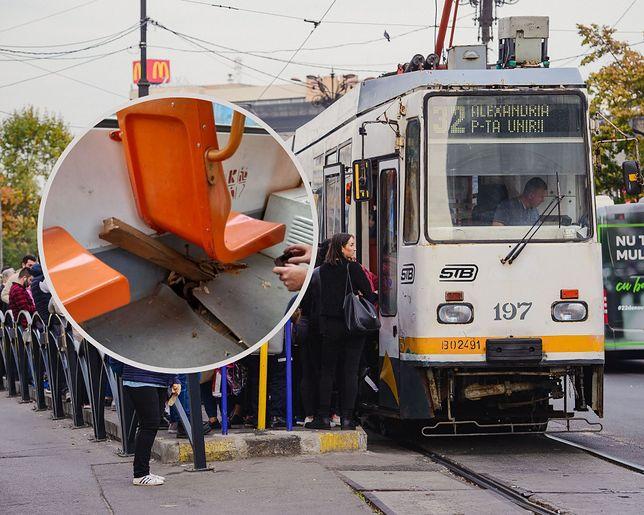 Rumunia. Szyna rozcięła podłogę w tramwaju