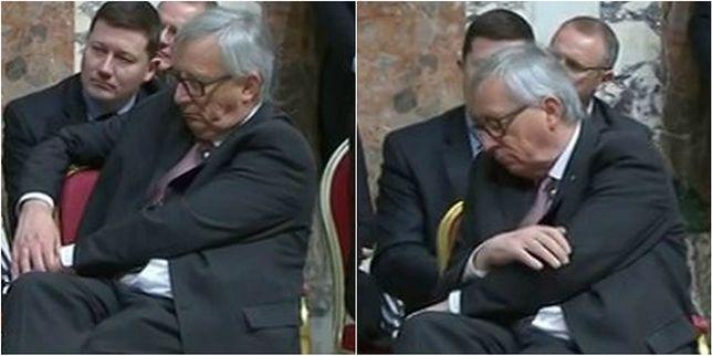 """Czy szef Komisji Europejskiej był w """"formie"""" w Watykanie? Dwuznaczne zdjęcia"""