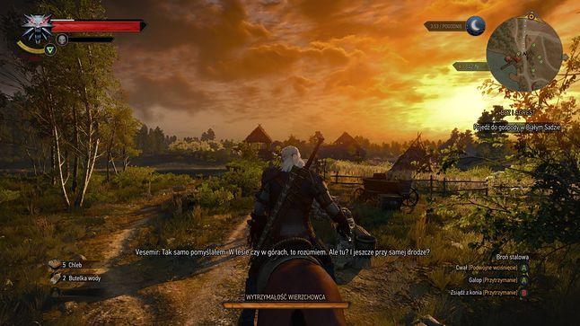 Wiedźmin 3 na Xbox Series X - ale jeszcze bez finalnej łatki ulepszającej grafikę