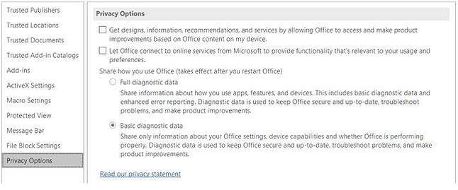 Nowe opcje prywatności w windowsowym Office 2016 lada dzień – też nie ma możliwości wyłączenia telemetrii (źródło: microsoft.com)