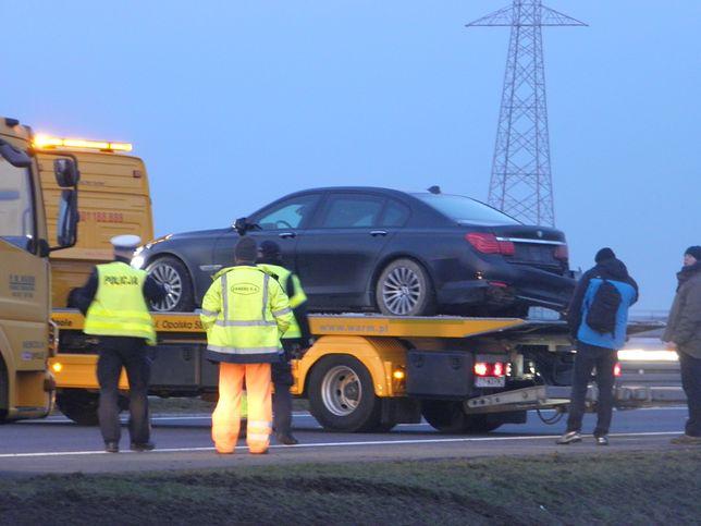Andrzej Duda miał wypadek na autostradzie A4.